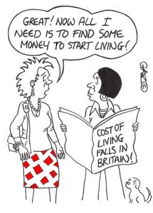 Cost Of Living Falls!